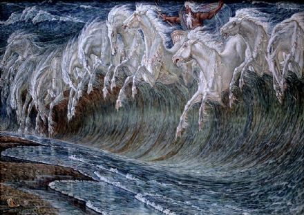 Crane, Walter: The Horses of Neptune. Mythological Fine Art Print/Poster. Sizes: A4/A3/A2/A1 (00237)